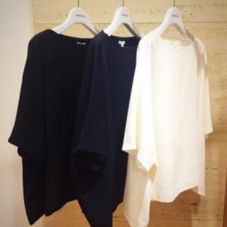 エンフォルド(ENFOLD)の♯06 ENFOLD コットンプルオーバー¥24,840 ホワイト 期間限定販売(Tシャツ(半袖/袖なし))