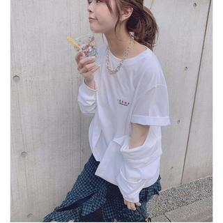 ルシェルブルー(LE CIEL BLEU)のIRENE Waist Cloth Tee(Tシャツ/カットソー(半袖/袖なし))