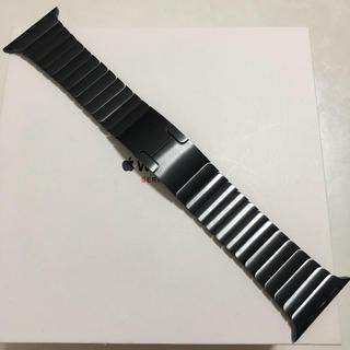 Apple Watch - 純正美品 apple watch 42mm リンクブレスレット スペースブラック
