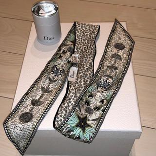 ディオール(Dior)の新品 Dior ディオール シルク ツイリー オフホワイト(バンダナ/スカーフ)