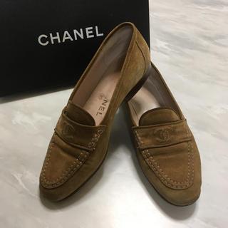 シャネル(CHANEL)のCHANELシャネル スエード ローファー(ローファー/革靴)