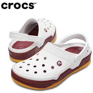 クロックス(crocs)の半額スタート クロックス 26cm ホワイト ゴールド フロントコート クロッグ(サンダル)