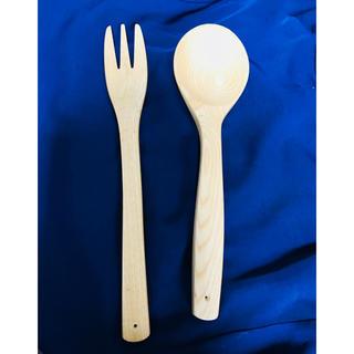 フェリシモ(FELISSIMO)のかしの木のフォーク&スプーン(大)セット(カトラリー/箸)