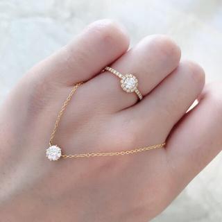 アーカー(AHKAH)のアーカー ヴィヴィアンローズ リング 12号 ダイヤモンド(リング(指輪))