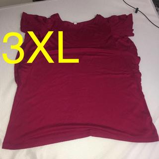 ユニクロ(UNIQLO)のUNIQLO Tシャツピンク3XL(Tシャツ(半袖/袖なし))