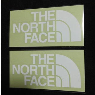 ザノースフェイス(THE NORTH FACE)のホワイト×2枚セット ノースフェイス ステッカー カッティングステッカー(その他)