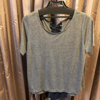 ナノユニバース(nano・universe)のナノユニバース バックレースアップTシャツ サイズF(Tシャツ(半袖/袖なし))