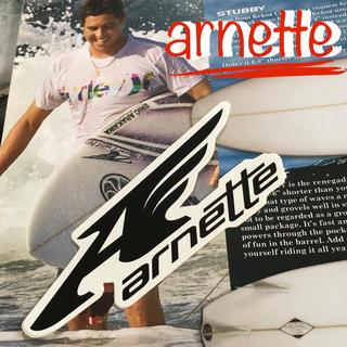 アーネット(Arnette)のarnetteアーネットUS限定SURF型抜きウイングアイコンロゴステッカー(サーフィン)