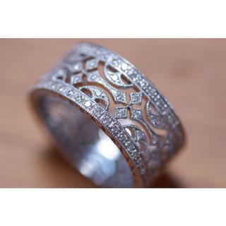 ☆らら☆様専用 750 カールブラックバーン ダイヤモンド (リング(指輪))