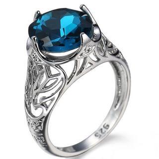超お買い得790円★ステンレススチールリング 濃いブルー12号(リング(指輪))