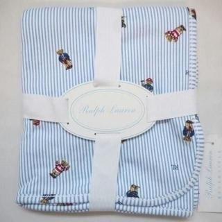 ラルフローレン(Ralph Lauren)のラルフローレン ポロベアー ベビーブランケット おくるみ☆ブルー(おくるみ/ブランケット)