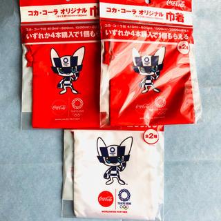 コカコーラ(コカ・コーラ)の新品未開封非売品:コカ・コーラオリジナル巾着 東京2020オリンピック紅白3個組(ノベルティグッズ)