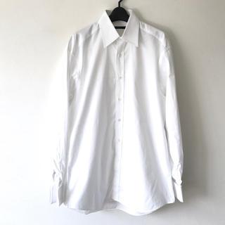 グッチ(Gucci)の定5.5万 GUCCI グッチ コットン長袖ダブルカフスシャツ40 ホワイト(シャツ)