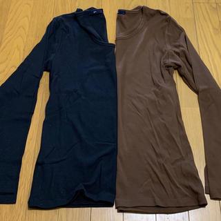 ジーユー(GU)の長袖Tシャツ  2枚(Tシャツ(長袖/七分))