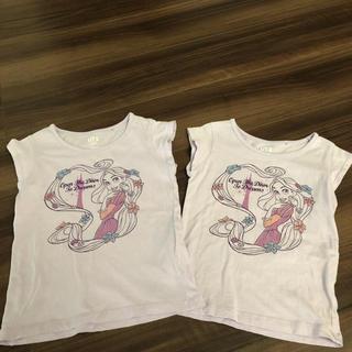 ユニクロ(UNIQLO)のラプンツェルTシャツ 姉妹お揃い 2枚セット(Tシャツ/カットソー)