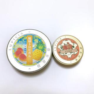 ルピシア(LUPICIA)のルピシア 空き缶 沖縄限定・琉球トロピカル YUME・ミニ缶 セット(茶)