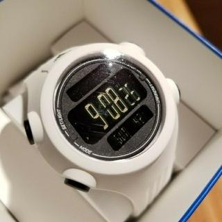 アディダス(adidas)のadidas 未使用 ホワイトラバーバンド時計(腕時計)