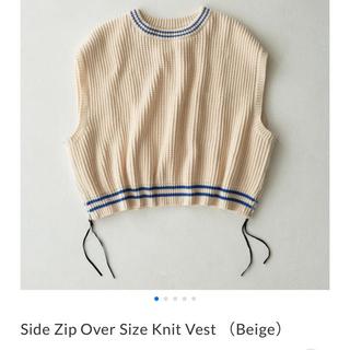 SUNSEA - ryotakashimaSide Zip Over Size Knit Vest