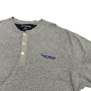 ラルフローレン(Ralph Lauren)の90's POLO SPORT ポロスポー ラルフ ヘンリーネック ロンT L(Tシャツ/カットソー(七分/長袖))