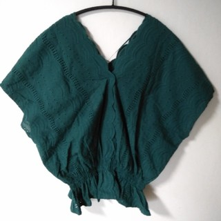 ジーユー(GU)のGU*ブラウス 綿100%(シャツ/ブラウス(半袖/袖なし))