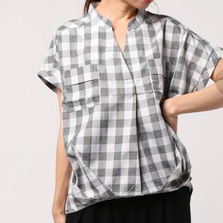 イッカ(ikka)のikka ブロックチェック シャツ ブラウス(シャツ/ブラウス(半袖/袖なし))