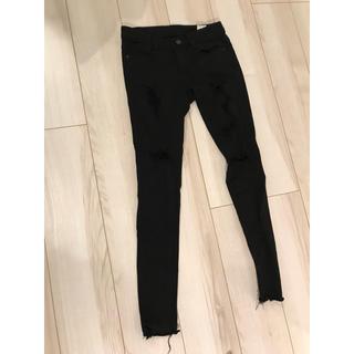 チュー(CHU XXX)のChuu -5kg 黒のダメージジーンズ(スキニーパンツ)