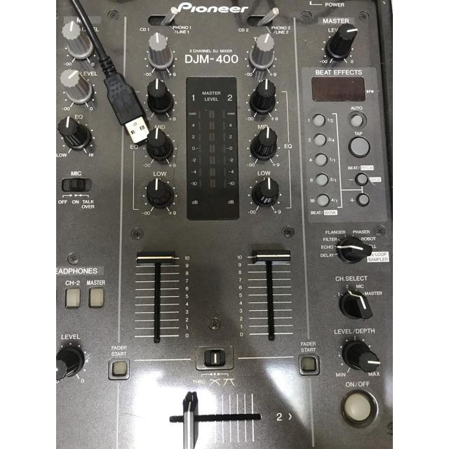 Pioneer(パイオニア)のdjm400 タンテ セット 楽器のDJ機器(DJミキサー)の商品写真
