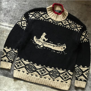 ラルフローレン(Ralph Lauren)の90's vintage LAUREN ラルフローレン カヌー柄 ニットセーター(ニット/セーター)