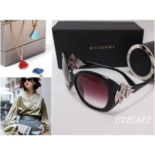 ブルガリ(BVLGARI)のブルガリ*サングラス ディーヴァ ドリーム クリスタル アイウエア 装飾 美品(サングラス/メガネ)