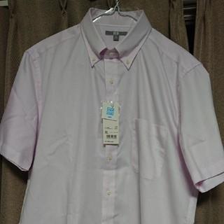 ユニクロ(UNIQLO)のユニクロ メンズ ドライイージーケアシャツ (半袖)ピンク XL(シャツ)