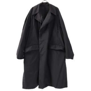 コモリ(COMOLI)のteatora device coat 46 black(ステンカラーコート)