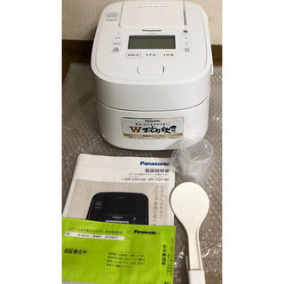 パナソニック(Panasonic)のパナソニック 5.5合 炊飯器 圧力IH式 Wおどり炊き SR-VSX108-W(炊飯器)