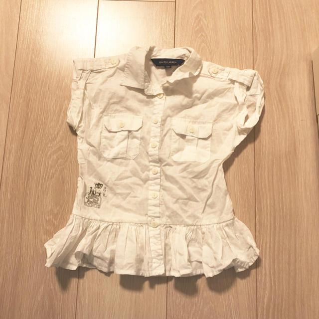 Ralph Lauren(ラルフローレン)のラルフローレン 子供服 100cm デニム ワンピース ブラウス スカート キッズ/ベビー/マタニティのキッズ服 女の子用(90cm~)(ワンピース)の商品写真