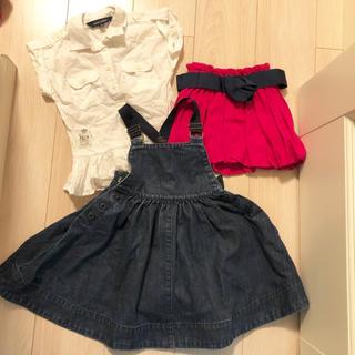 ラルフローレン(Ralph Lauren)のラルフローレン 子供服 100cm デニム ワンピース ブラウス スカート(ワンピース)