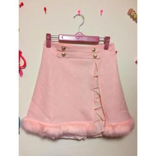ボボンニジュウイチ(Bobon21)のbobon21 ファー付きスカートパンツ(ミニスカート)