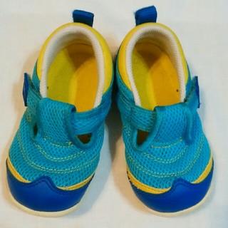 ミキハウス(mikihouse)のミキハウス サンダル スニーカー 靴 水色 15cm マジックテープ(サンダル)