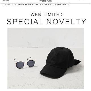 リエンダ(rienda)の新品 Back Ribbon Cap & Eye Wear SET  ノベルティ(その他)