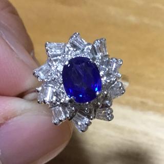 ねこ様専用❗️コーンフラワーブルー✨1.14ctサファイア&ダイヤ リング 鑑付(リング(指輪))
