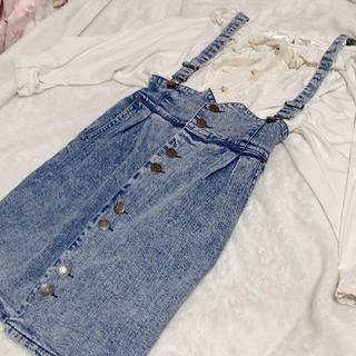 リズリサ(LIZ LISA)のデニムスカート(ひざ丈スカート)