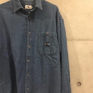 カルバンクライン(Calvin Klein)の90's USA製 ck デニムシャツ(シャツ)