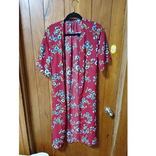 しまむら - 花柄 ロングカーディガン 羽織
