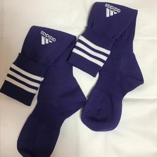 アディダス(adidas)のサッカーソックス 紫 adidas(サッカー)