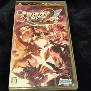 プレイステーションポータブル(PlayStation Portable)のPSP ソフト「ファンタシースター ポータブル2」初期動作確認済 説明書付(携帯用ゲームソフト)