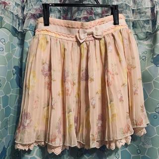 リズリサ(LIZ LISA)のリズリサ 花柄リボンスカート(ミニスカート)