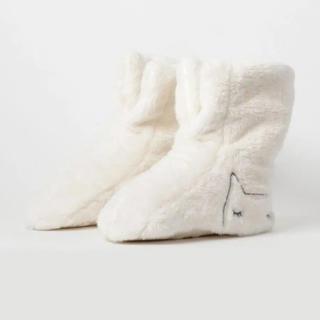 ツモリチサト(TSUMORI CHISATO)のツモリ チサトスリープ プードルカットフリース ルームシューズ ブーツ ネコ(ルームウェア)