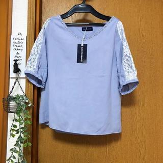 新品タグ付き    ビジュー   トップス(シャツ/ブラウス(半袖/袖なし))