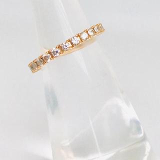 タサキ(TASAKI)のタサキ   サクラゴールド ハーフエタニティ 0.35ct(リング(指輪))