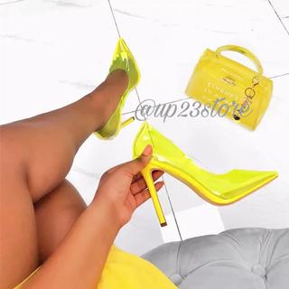 イエローブーツ(Yellow boots)のNEONCLEARHEELS(ハイヒール/パンプス)