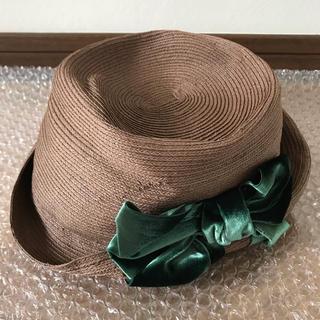 カシラ(CA4LA)のカシラ ペーパー素材 リボン付き帽子 新品(ハット)