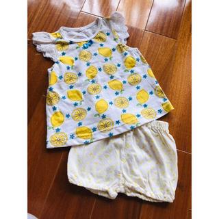 ニシマツヤ(西松屋)の夏 レモントップスとかぼちゃのパンツ セットアップ(タンクトップ/キャミソール)